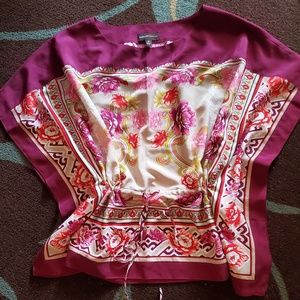 Dana Buchman Colorful Batwing Blouse
